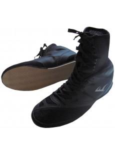 """Chaussures de boxe Everlast """"Hi top"""" noires"""