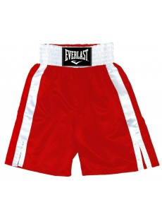 "Short de boxe Everlast ""Pro boxing trunks"" rouge/blanc"