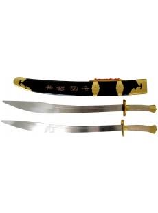 Double sabre traditionnel à la lame semi-flexible