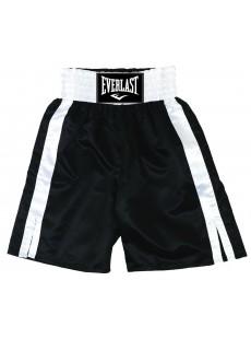 "Short de boxe Everlast ""Pro boxing trunks"" noir/blanc"