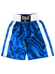 "Short de boxe Everlast ""Pro boxing trunks"" bleu/blanc"
