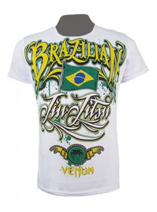 "T-shirt Venum ""BJJ Auriverde"" Creative Line blanc"