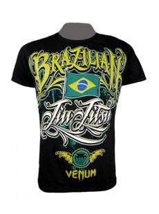 """T-shirt Venum """"BJJ Auriverde"""" Creative Line noir"""