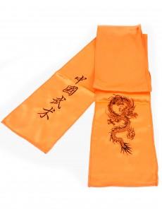 Ceinture kung-fu / wushu imitation soie brodée